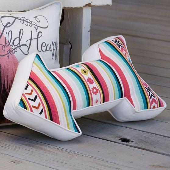 Junk Gypsy Serape Stripe Arrow Pillow | PBteen