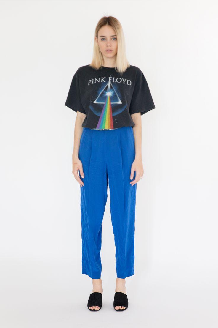 Mi Vintage Label 90s Electric Blue Pants www.mivintagelabel.com