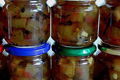 Eingelegte Wassermelonenschale - geht auch mit Honigmelonenschale