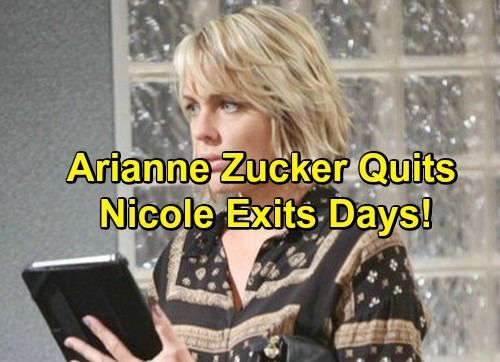 Days of Our Lives Spoilers: Arianne Zucker Quits DOOL - Decides Not to Renew Contract, Exits Role of Nicole | Celeb Dirty Laundry