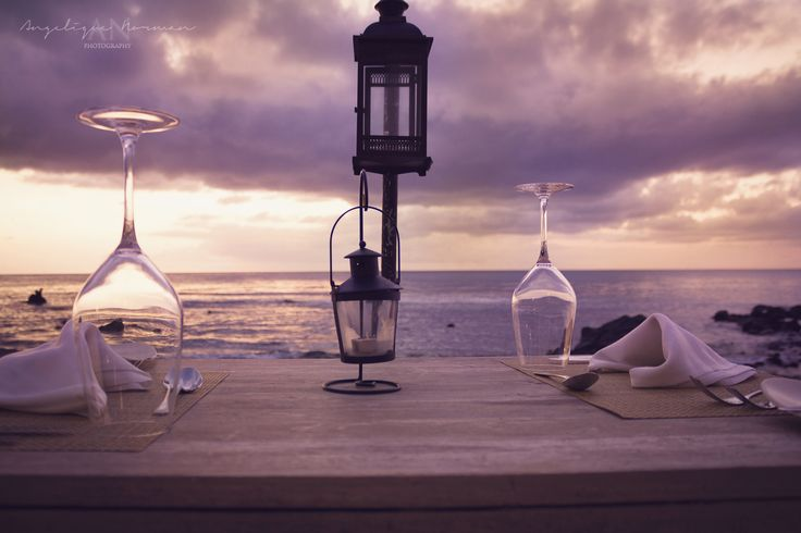 Sunset Dinner - It was a vacation to remember. The sunsets are spectacular on the beautiful island of Mauritius. And what better way to experience it than with a delicious and romantic meal overlooking the vast ocean.