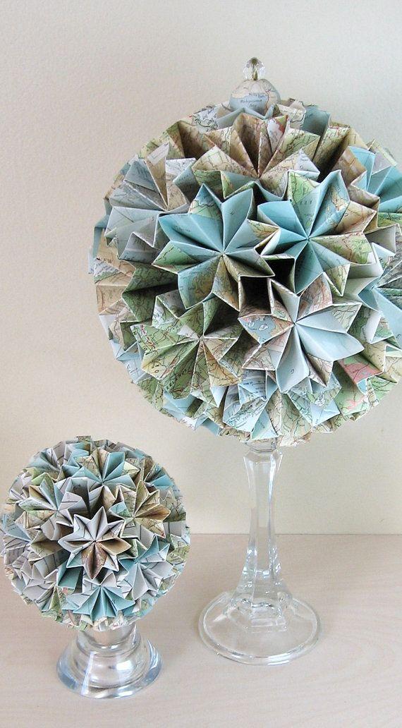 décoration globe en papier