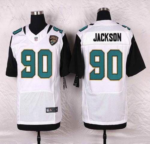 NFL Jacksonville Jaguars Mens Football Jersey Soccer Rugby Jerseys 90 Malik Jackson White Elite Jersey