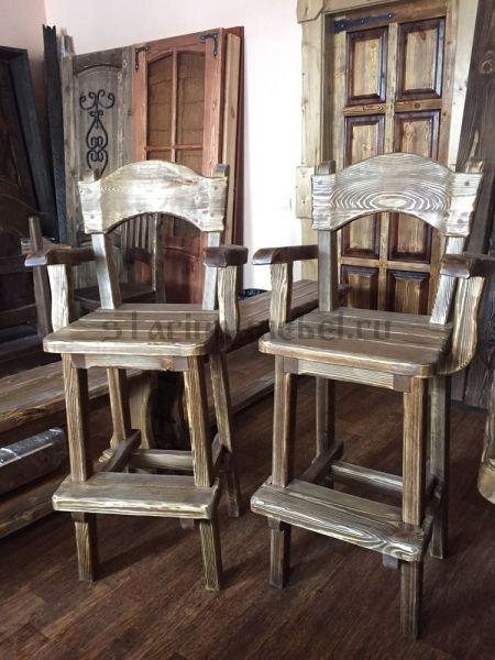 Барные стулья под старину из массива сосны