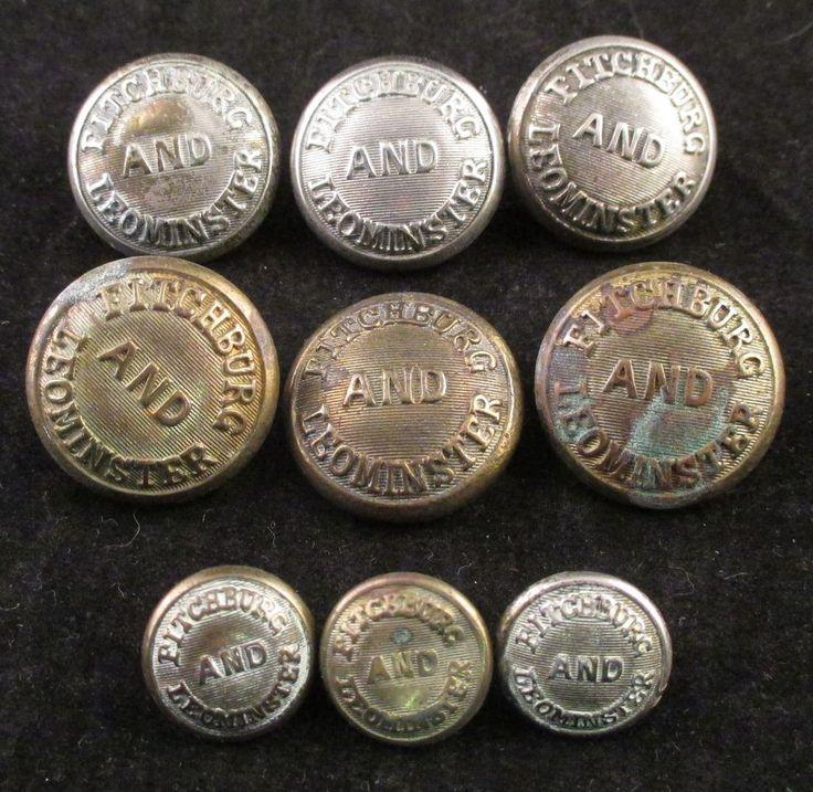 uniform buttons Railroad