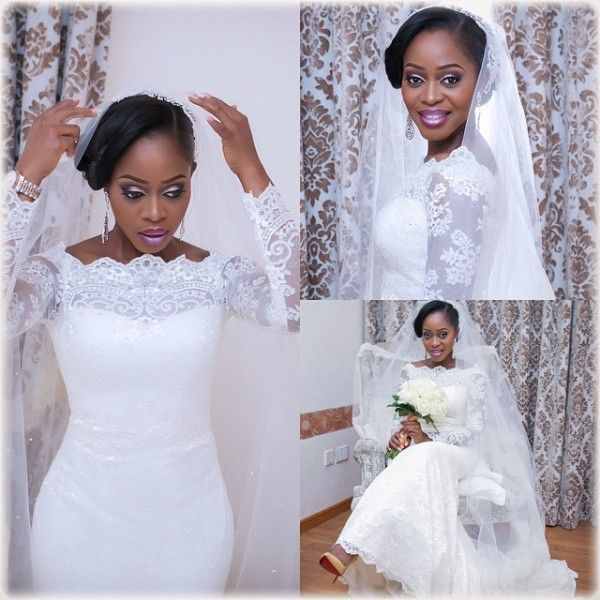 Wedding Gowns In Nigeria: Church White Wedding Dress Nigerian Brides By