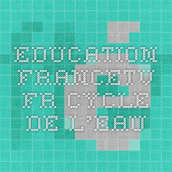 education.francetv.fr cycle de l'eau