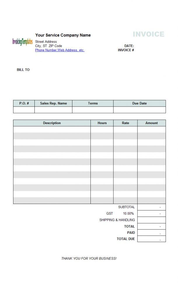 Get Our Sample Of Statement Of Services Rendered Template For Free Invoice Template Invoice Template Word Printable Invoice