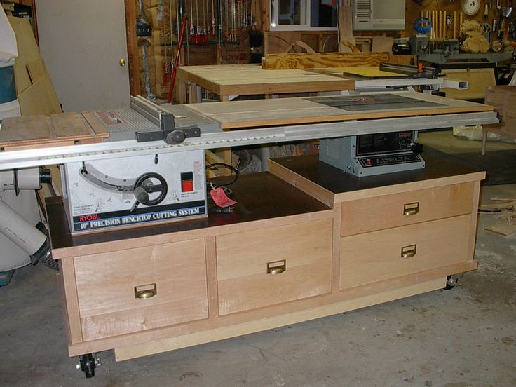 11 best table saw base images on pinterest woodworking for Table saw cabinet plans free