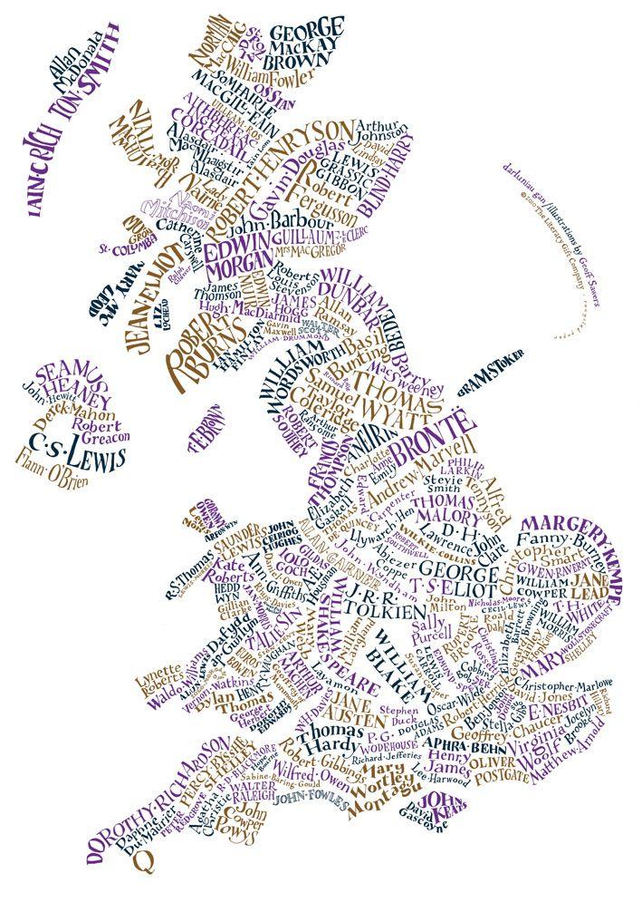 Briterary (British Literary) Map