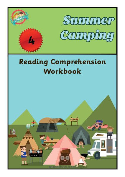 Reading Comprehension Workbook - Summer Camping – Splash Resources