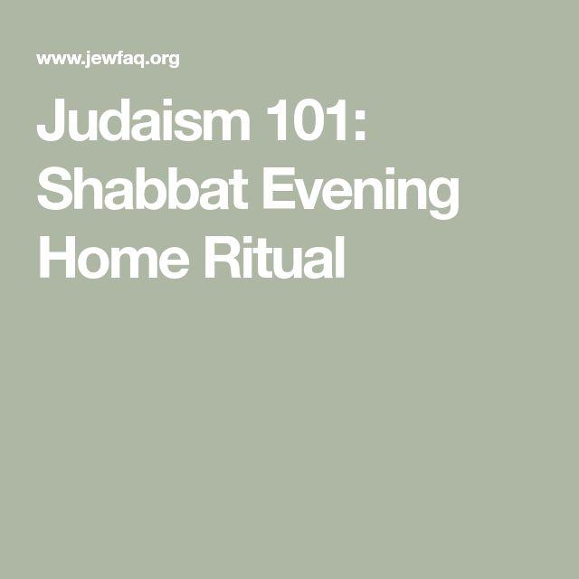 Judaism 101: Shabbat Evening Home Ritual