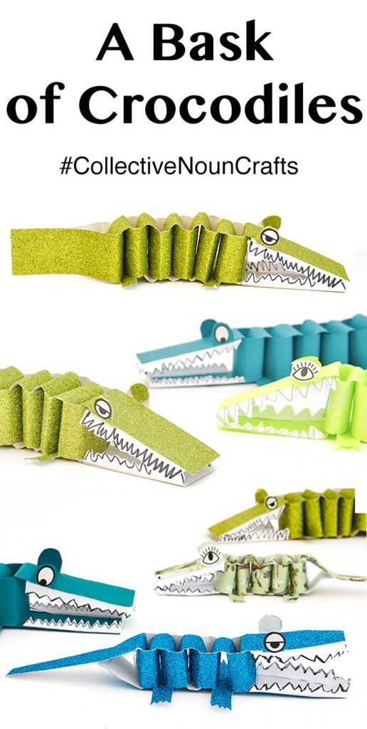 How to make a bask of paper crocodiles - Collective Noun Crafts