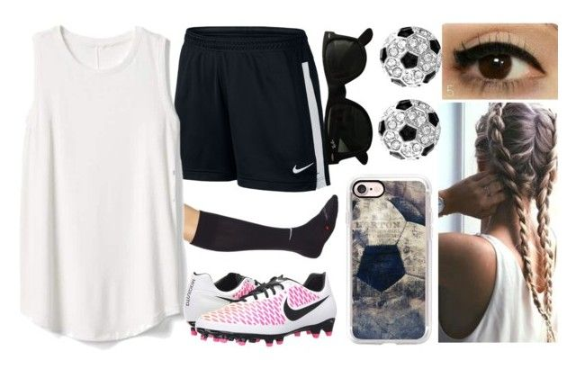 """24.06.17 #campus #calcio #bambini #giornatadiversa #animatrice"" by nena69 ❤ liked on Polyvore featuring NIKE, Gap, Casetify and Ray-Ban"
