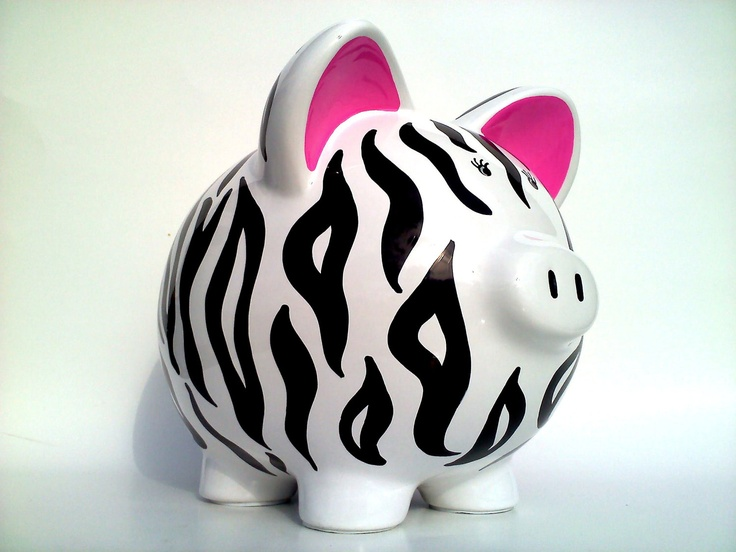 Animal Print Piggy Bank!!.. =)