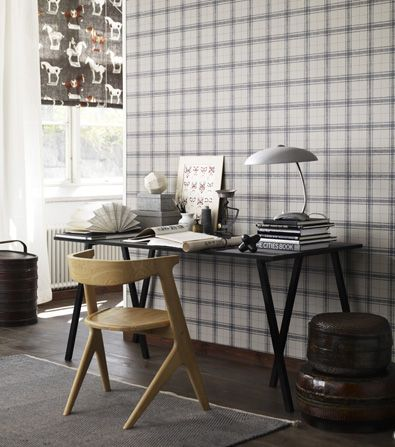 I want a checke wall for one of the boys' rooms (Astrid / Sandberg)