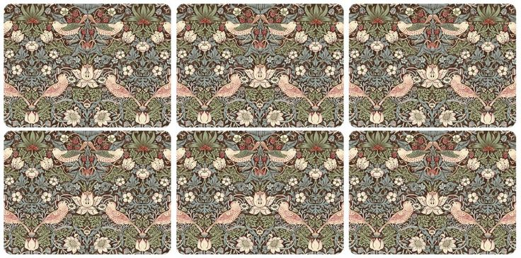 Pimpernel Strawberry Thief Brown Placemats