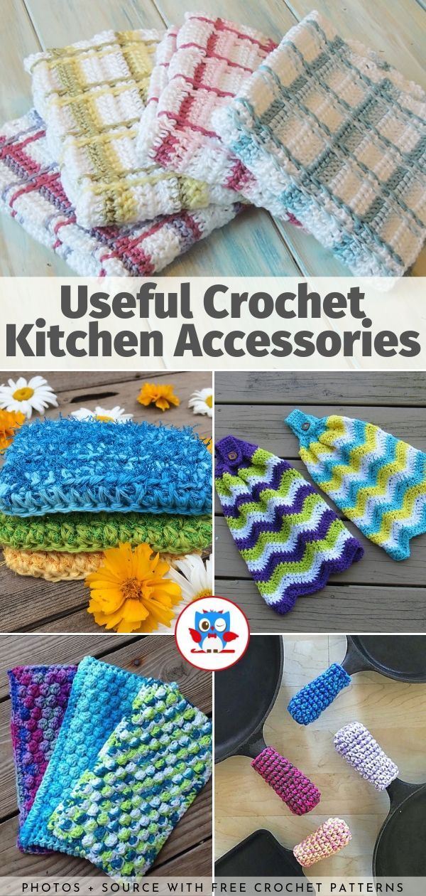 Useful Crochet Kitchen Accessories Free Patterns Your Crochet Crochet Kitchen Crochet Patterns Crochet Household Items