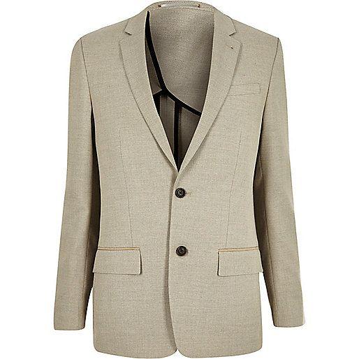 Ecru slim blazer - blazers - sale - men