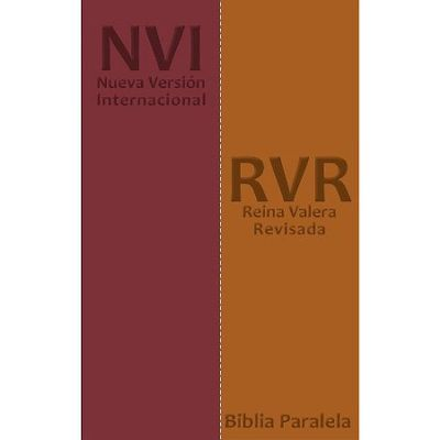 RV / NVI Parallel Bible, Reina Valera Nueva Verson Internacional, Bonded Leather, DuoTone Tan/Burgundy
