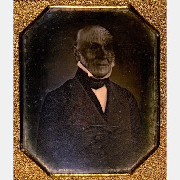 1843, John Quincy Adams, the oldest surviving photograph of an American president.