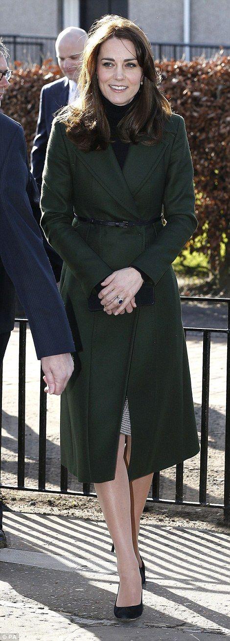The Duchess Of Cambridge Visits St Catherine's Primary School in Edinburgh on February 24, 2016 in Edinburgh, Scotland.