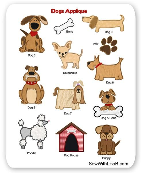 Dogs Embroidery Applique Layout | Craft Ideas | Pinterest