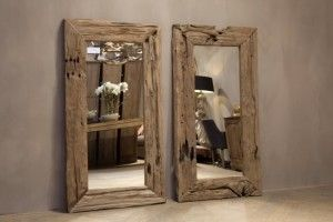 Spiegels van sloophout, prachtig beeld! En erg mooi in mijn ideale badkamer! ♡