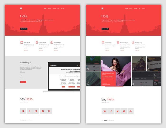 Flat Web Design Tutorial – Portfolio Landing Page [FREE Download]