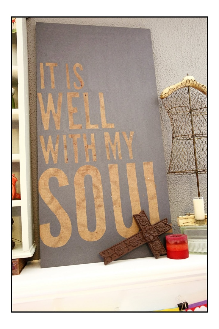 it is well. it is well, with my soul.