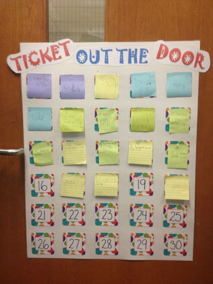 Exit Tickets Template In Spanish Cl Teaching