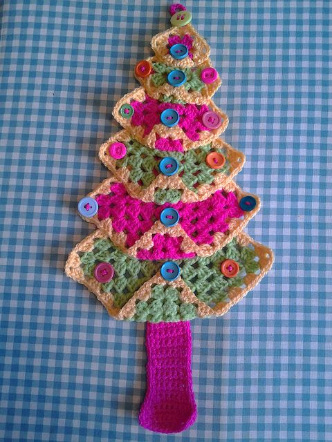 Granny Square Christmas Tree Crochet Crochet Christmas
