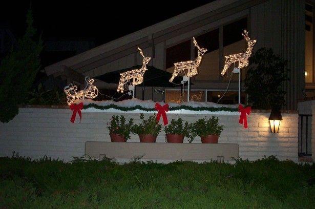 Распространять дух Рождества с Открытый Рождественские украшения: милый Открытый Рождественский олень украшения с идеями светодиодные фонари ~ beacont.com украшения вдохновение