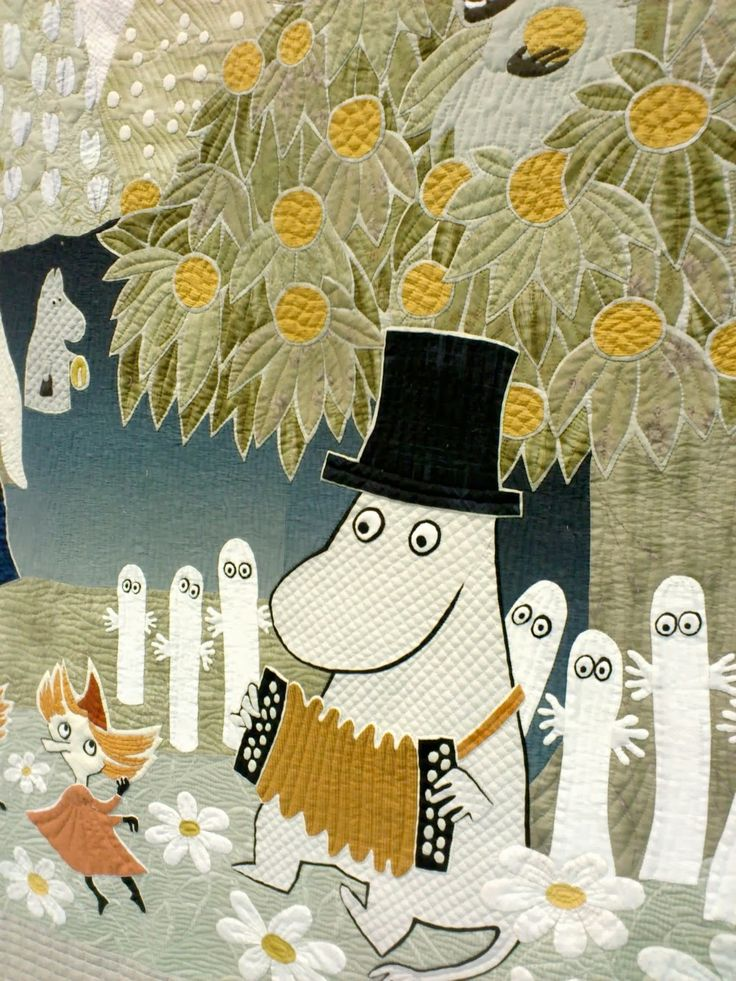Moomin Quilt by Yoko Saito