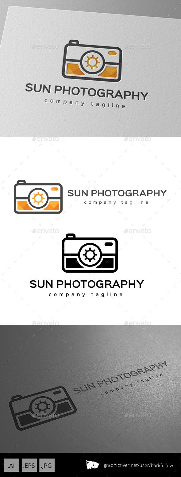 Sun Photography Services Logo — Vector EPS #gallery #digital • Available here → https://graphicriver.net/item/sun-photography-services-logo/9936614?ref=pxcr