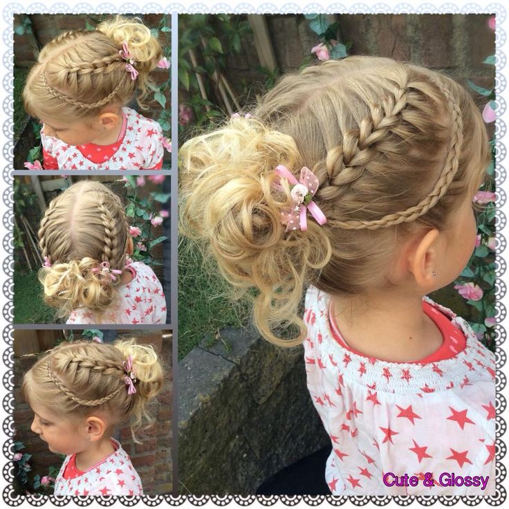 Big scissors braid/ pull through without elastic bands. Hairstyle for school.