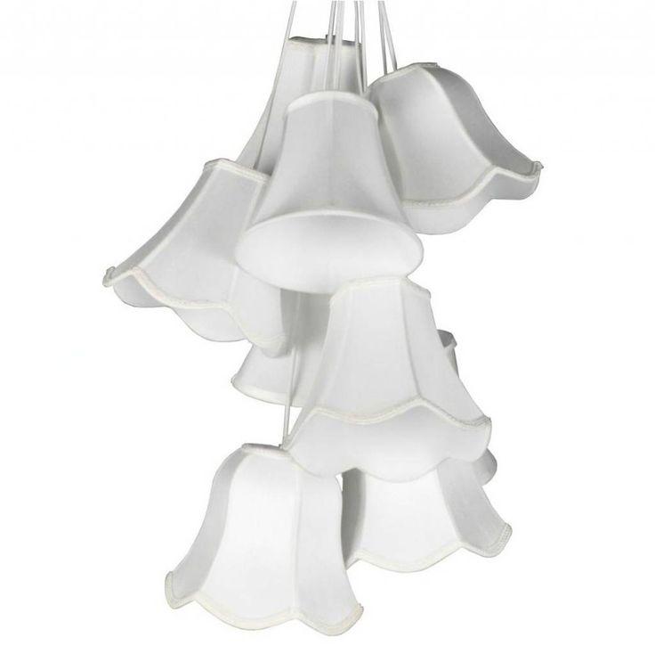 Zuiver Hanglamp Granny wit satijn Ø50x130cm