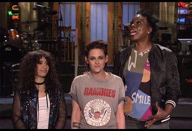 Alessia Cara & Kristen Stewart Are Mistaken for Keebler Elves in New 'SNL' Promos: Watch