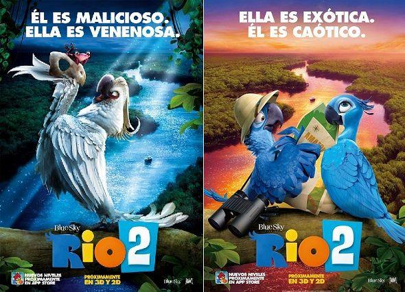 'Rio 2′ es la nueva película de animación de 20th Century Fox. Una aventura donde Perla y sus tres hijos cambian su hogar en la ciudad de Rio de Janeiro por las selvas del Amazonas.
