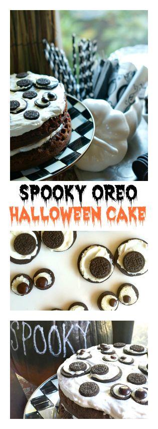 Oreo Halloween Cake | ReluctantEntertainer.com #SpookySnackLab