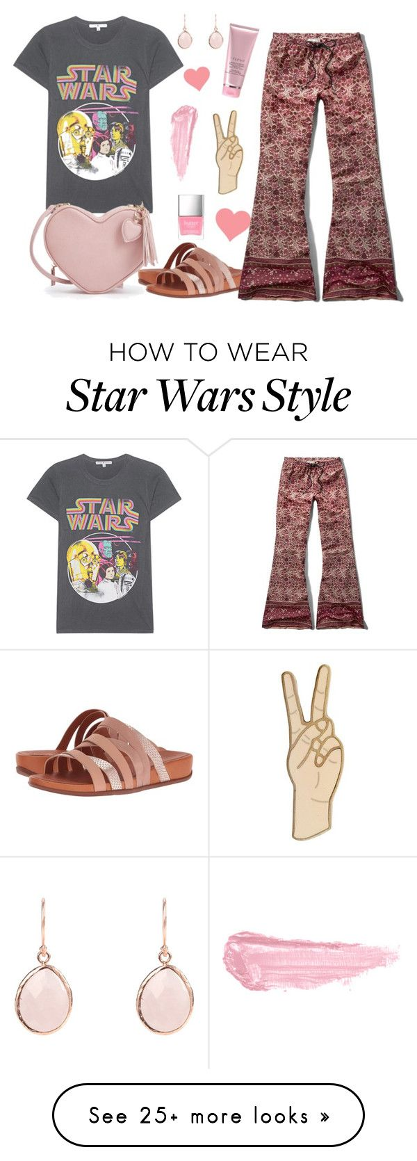 """""""Just A Girl"""" by lovekaitlin on Polyvore featuring FitFlop, Junk Food Clothing, Abercrombie & Fitch, Lucky Brand, By Terry, Butter London and starwars"""