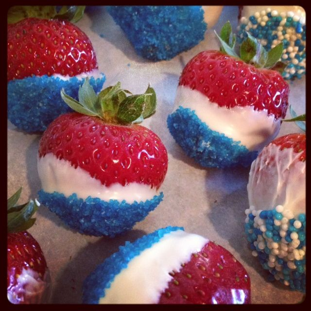 Mmm... 4th of July Strawberry Recipe - Only 3 ingredients. Easy!
