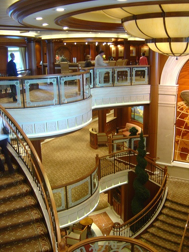 Cunard Queen Victoria Grand Lobby (7) by garybembridge, via Flickr - visit my site at http://www.tipsfortravellers.com for more on travel