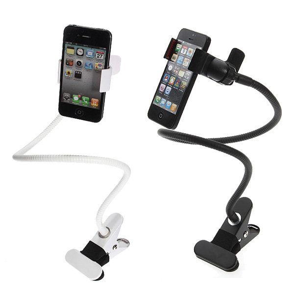 Universal Long Arm Clip Desk Bed Car Holder For iPhone Smartphone…
