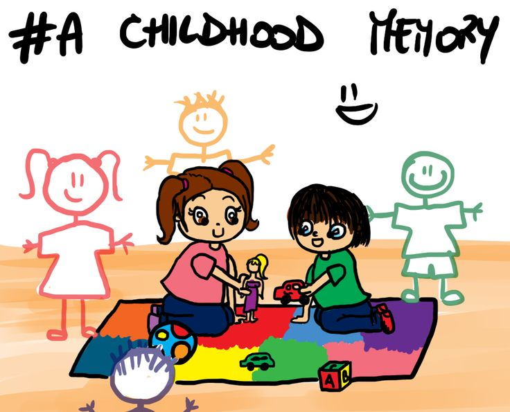 #draw a #childhood #memory #children #brother #toys # ...