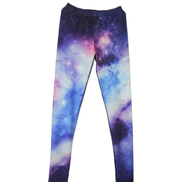 EAST KNITTING NEW FASHION ladie's Galaxy Space leggings women space... via Polyvore