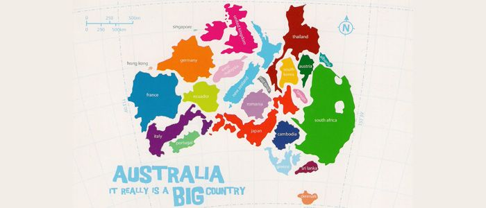 Shows how big Australia really is