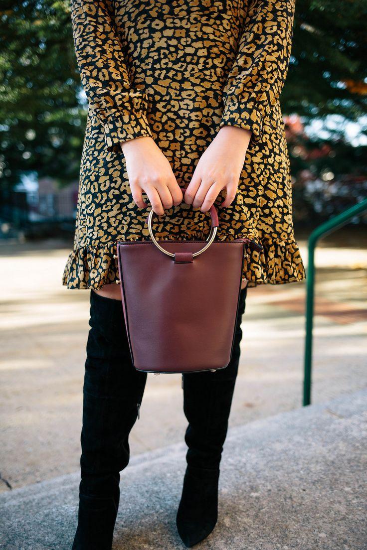 Melie Bianco Stella Ring Bag Burgundy