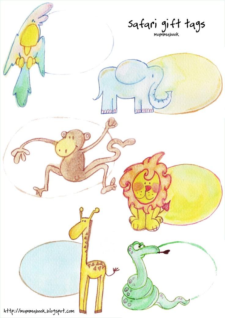 Mammabook: Safari gift tags - free downloadFree Download, Tags Baby, Tags Free, Gift Wraps, Safari Gift, Mammabook, Gift Tags, Creations, Free Printables