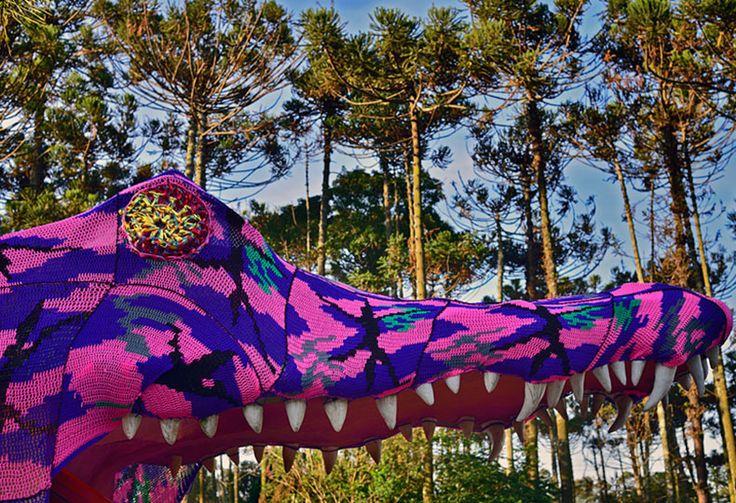 Вязаный крокодил Агаты Олек